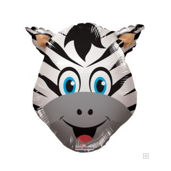 Palloncino Mylar Mini Shape 35 cm. Zebra Head