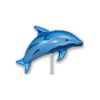 Palloncino Mylar Mini Shape 38 cm. Blu Dolphin