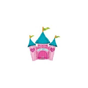 Palloncino Mylar Mini Shape Princess Castle - 35 cm.