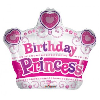 Palloncino Mylar Mini Shape Princess Crown - 30 cm.