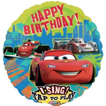 Palloncino Mylar Musicale 71 cm. Cars Birthday