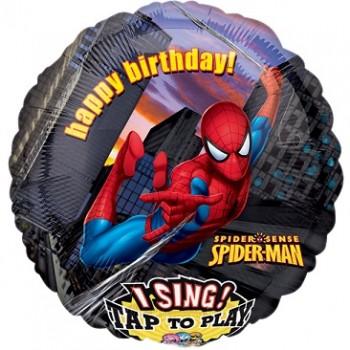 Palloncino Mylar Musicale 71 cm. Spiderman Birthday