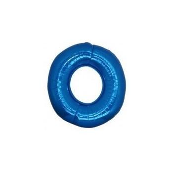 Palloncino Mylar Numero Micro 0 - Blu - 17 cm.