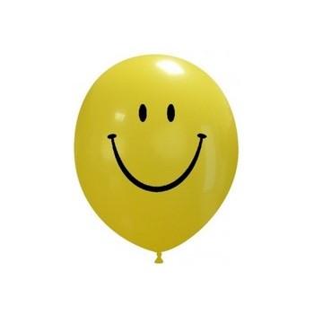 Palloncino in Lattice Rotondo 12,5 cm. Stampa Smile