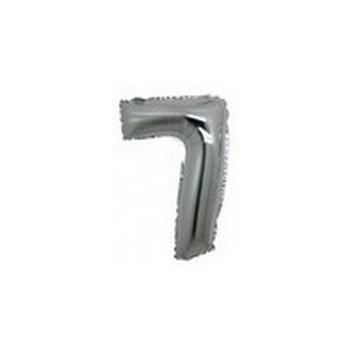 Palloncino Mylar Numero Micro 7 - Argento - 17 cm.