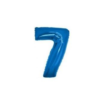 Palloncino Mylar Numero Micro 7 - Blu - 17 cm.