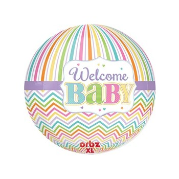Palloncino Mylar Super Shape 40 cm. Baby Bright Orbz XL