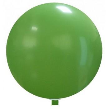 Palloncino in Lattice Rotondo 150 cm. Verde - Piatto. Si consiglia valvola di chiusura