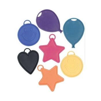 Pesetti in Plastica per Palloncini assortiti 15 gr. colori Assortiti