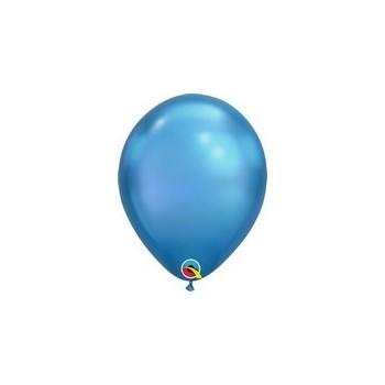 Palloncino in Lattice Rotondo 17 cm. Chrome Blue