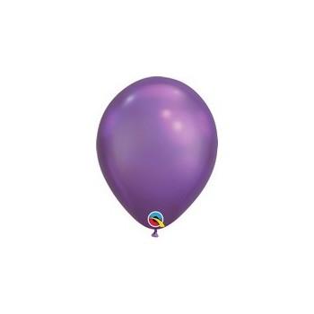 Palloncino in Lattice Rotondo 17 cm. Chrome Purple