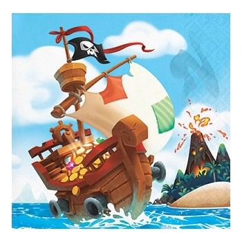Pirati Pirate Treasure - Tovagliolo 25x25 cm.- 16 pz.