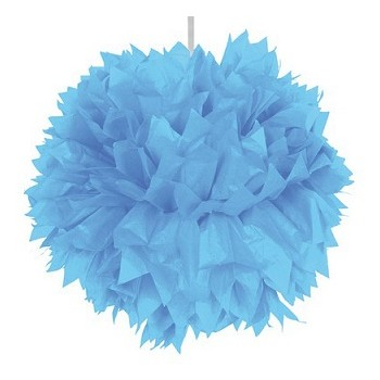 Pom pom Azzurro in carta 30 cm.