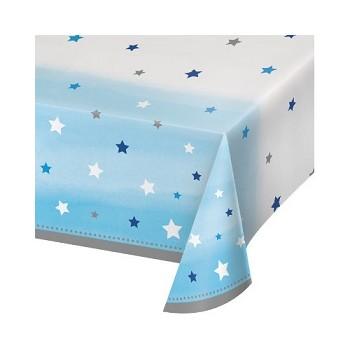Primo Compleanno Bimbo One Little Star Boy - Tovaglia Plastica 137 x 274 cm. - 1 pz