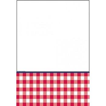 Quadretti Rossi - Tovaglia Carta 122x223 cm.