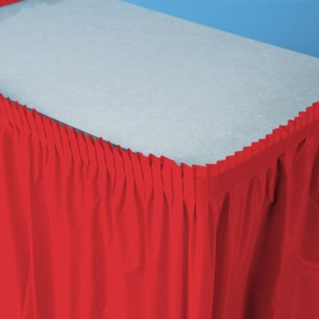 Rosso - Gonna Plastica 74 x 420 cm.