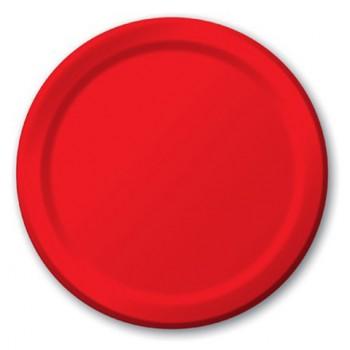 Rosso - Piatto Carta 22 cm. - 8 Pz.