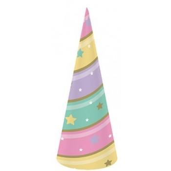 Unicorno - Cappello a Cono 18 x 6 cm. - 8 pz