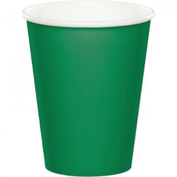 Verde Smeraldo - Bicchiere Carta 266 ml. - 8 pz.