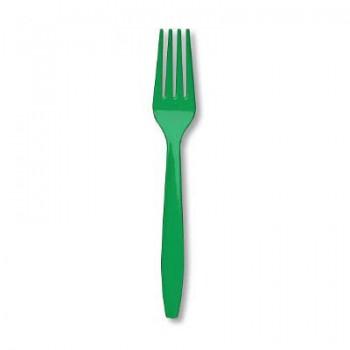 Verde Smeraldo - Forchetta Plastica - 24 pz.