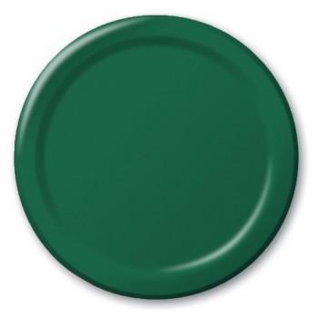 Verde Smeraldo - Piatto Carta 22 cm. - 8 Pz.