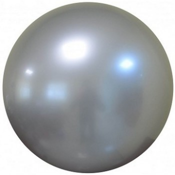 Palloncino Deco Bubble Argento Chrome 60 cm.