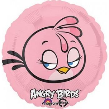 Palloncino Mylar 45 cm. Pink Angry Birds