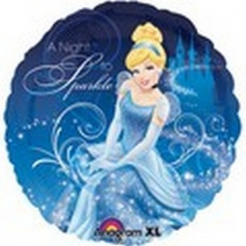Palloncino Mylar 45 cm. Princess Cinderella Night To Sparkle