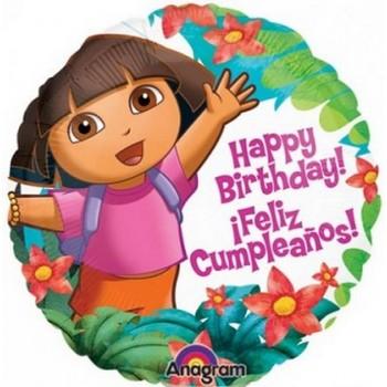 Palloncino Mylar 45 cm. Dora Birthday
