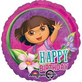 Palloncino Mylar 45 cm. Dora Happy Birthday