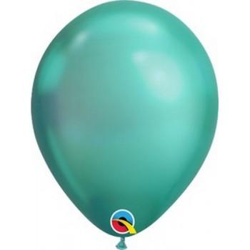 Palloncino in Lattice Rotondo 30 cm. Chrome Green