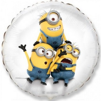 Palloncino Mylar 45 cm. Despicable Me Minions Party White