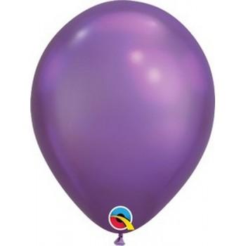 Palloncino in Lattice Rotondo 30 cm. Chrome Purple