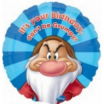 Palloncino Mylar 45 cm. It's Your Birthday Dont't Be Grumpy
