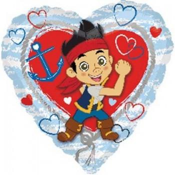 Palloncino Mylar 45 cm. Jake & Never Land Pirates Love