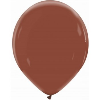 Palloncino in Lattice Rotondo 30 cm. Cioccolato