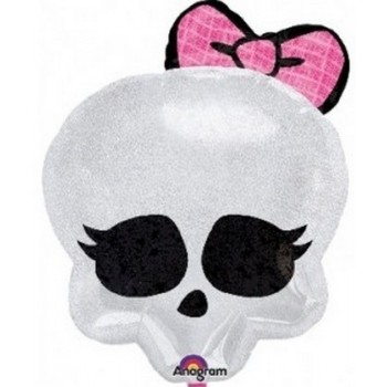 Palloncino Mylar 45 cm. Monster High Holographic Skullette Badge
