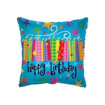 Palloncino Mylar Mini Shape 22 cm. Happy Birthday Candles