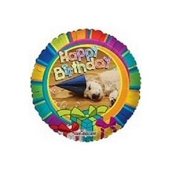 Palloncino Mylar Mini Shape 22 cm. Happy Birthday Dog