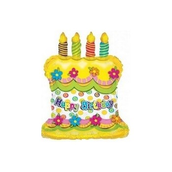 Palloncino Mylar Mini Shape 30 cm. Birthday Cake