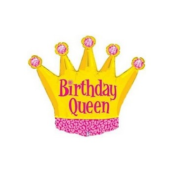 Palloncino Mylar Mini Shape 35 cm. Birthday Queen Crown