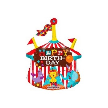 Palloncino Mylar Mini Shape 35 cm. Circus Happy Birthday