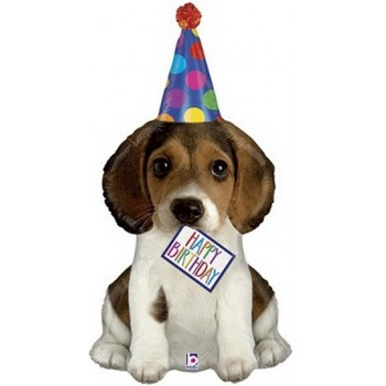 Palloncino Mylar Super Shape 104 cm. Birthday Puppy