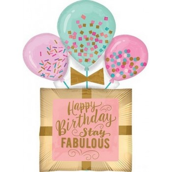 Palloncino Mylar Super Shape 81 cm. Fabulous Birthday Gift