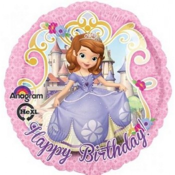 Palloncino Mylar 45 cm. Disney Princess Sofia The First Birthday
