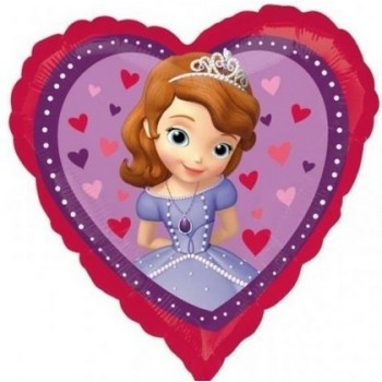 Palloncino Mylar 45 cm. Disney Princess Sofia The First Love