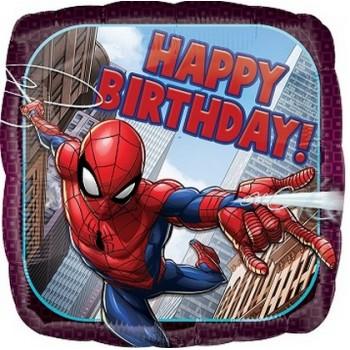 Palloncino Mylar 45 cm. Spider-Man Happy Birthday
