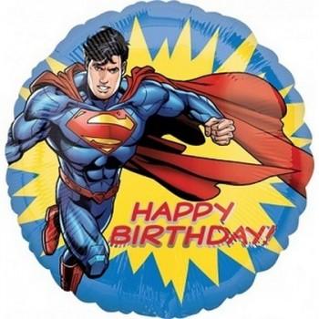 Palloncino Mylar 45 cm. Superman Happy Birthday
