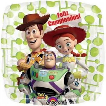 Palloncino Mylar 45 cm. Toy Story Feliz Cumpleaños