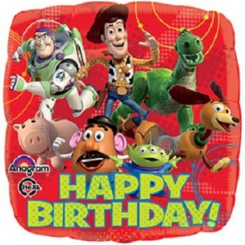 Palloncino Mylar 45 cm. Toy Story Gang Happy Birthday